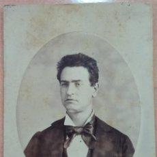 Fotografía antigua: ANTIGUA FOTOGRAFÍA, CABALLERO. FOTÓGRAFO SABATER. CASTELLÓN. W. Lote 195561496