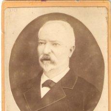 Fotografía antigua: VIGO (PONTEVEDRA) FOTO CABINET DE MIGUEL NOGUEIRA. ESTUDIO FOTOGRÁFICO DE J.FRANCO.. Lote 195955046