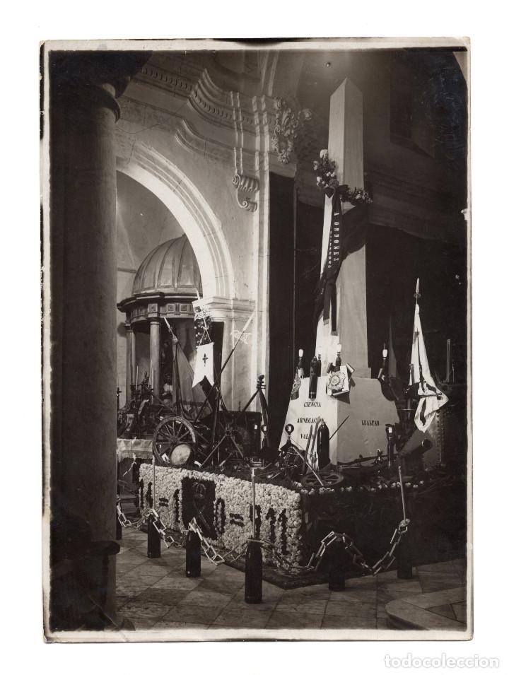 MELILLA.- FUNERALES DEL GENERAL ORDÓÑEZ. 1911. TROFEOS DE GUERRA Y MEDALLAS.FOTO WELKIN & Cª. 13X18. (Fotografía Antigua - Albúmina)