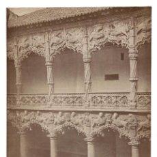Fotografía antigua: GUADALAJARA.- 1452. DETALLE DEL PALACIO DEL INFANTADO.- J. LAURENT. 25X33.. Lote 196150502