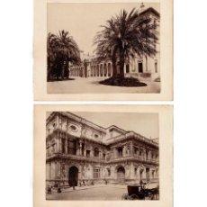 Fotografía antigua: SEVILLA.- PALACIO SAN TELMO Y AYUNTAMIENTO. WESTMINSTER LIBRARIES.2 ALBÚMINA SOBRE CARTON. 34,5X26.. Lote 196546363