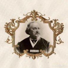 Fotografía antigua: EMILIO ARRIETA.(PUENTE LA REINA 1821-MADRID 1894). COMPOSITOR ESPAÑOL, PRODUCTOR TEATRAL. 30X30.. Lote 196552890