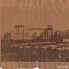 Fotografía antigua: ALBÚMINA.- TEMPLO ROMANO.27X22.. Lote 196760285