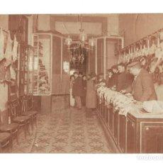 Fotografía antigua: MADRID.- BARRIO DE GRACIA. POLLERÍA Y CAZA. GRUPO 44. 23X17,5.. Lote 196904590