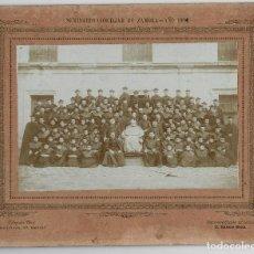 Fotografía antigua: ZAMORA.- SEMINARIO CONCILIAR DE ZAMORA.- 1904. FOTO TEROL.31X25.. Lote 196912727