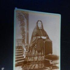 Fotografía antigua: RETRATO DE DOÑA MARIA MANUELA ALVAREZ FOTOGRAFIA MADRILEÑA SEGOVIA HACIA 1880. Lote 196940875