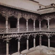 Fotografía antigua: LAURENT - GUADALAJARA, 1454 - VISTA GENERAL DEL PATIO DEL PALACIO DEL INFANTADO. Lote 196978410