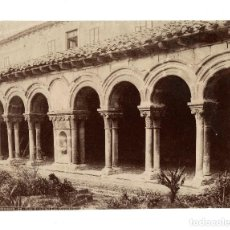 Fotografía antigua: BURGOS.- LAS HUELGAS. LOS CLAUSTRILLOS.- J. LAURENT. 28X21,5.. Lote 197049472