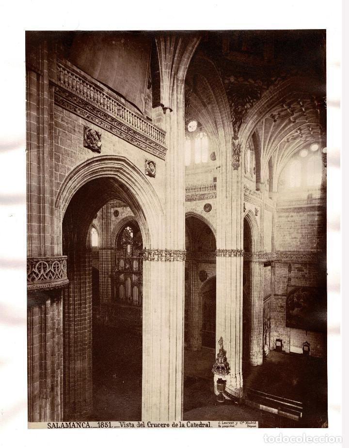 SALAMANCA.- VISTA DEL CRUCERO DE LA CATEDRAL. J. LAURENT Y Cª. 33X25. (Fotografía Antigua - Albúmina)