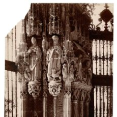 Fotografía antigua: GRANADA.- CATEDRAL. ENTRADA DE LA CAPILLA DEL CONTESTABLE. J.LAURENT Y Cª. 28X22. Lote 197123303
