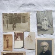 Fotografía antigua: LOTE FOTOGRAFIA ANTIGUA.ALBUMINA. FOTOS.DAMAS.POSADOS.FOTOTIPIA.MADRID.BARCELONA.POSTAL.GRABADO. Lote 198181108
