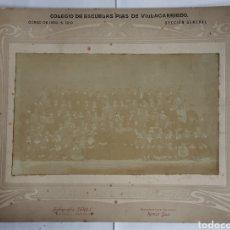 Fotografía antigua: COLEGIO DE LAS ESCUELAS PIAS DE VILLACARRIEDO. CURSO DE 1909 A 1910. SECCIÓN GENERAL. Lote 198717992