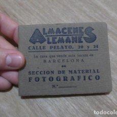 Fotografía antigua: ANTIGUO ALBUM PEQUEÑO CON FOTOS, PUBLICIDAD ALMACENES ALEMANES BARCELONA, ORIGINAL.. Lote 199079890