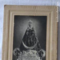 Fotografía antigua: ANTIGUA FOTOGRAFIA, VIRGEN DE LA FUENSANTA MURCIA 8.5 X 13.5 CM CON PASPARTU ANTIGUO. Lote 199089617