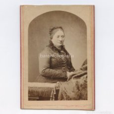 Fotografía antigua: CANTANTE O ARTISTA ITALIANA POR IDENTIFICAR, RETRATO DEDICADO A JOSEP PARERA, 1882. FOTO: VIANCELLI.. Lote 199677598