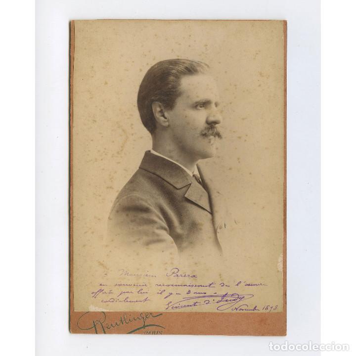 ÓPERA O TEATRO, POR IDENTIFICAR, DEDICADO A JOSEP PARERA, 1898. 10,5X15 CM. REUTLINGER, PARIS. (Fotografía Antigua - Albúmina)