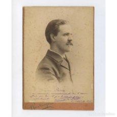 Fotografía antigua: ÓPERA O TEATRO, POR IDENTIFICAR, DEDICADO A JOSEP PARERA, 1898. 10,5X15 CM. REUTLINGER, PARIS.. Lote 199677932