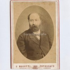 Fotografía antigua: ÓPERA O TEATRO, POR IDENTIFICAR, LARGA DEDICATORIA A JOSEP PARERA, 1898. FOTO: MOROTTI, CARRARA.. Lote 199678167