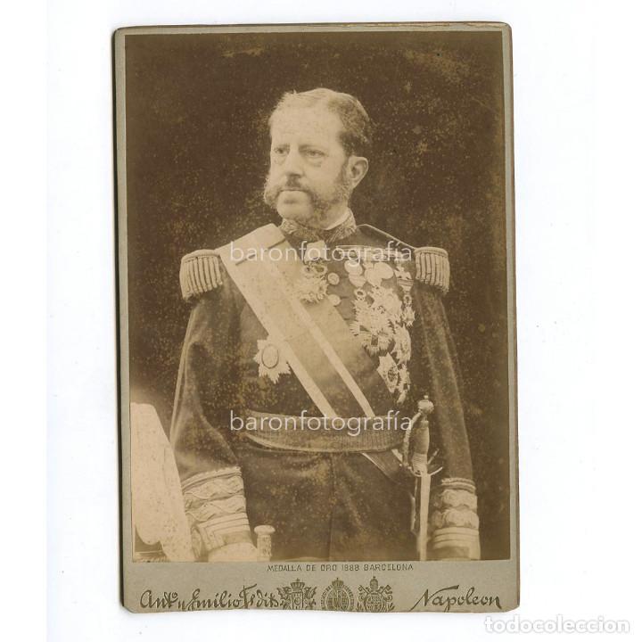 EL GENERAL VALERIANO WEYLER (MALLORCA 1838 - MADRID 1930) MILITAR Y GOBERNADOR DE CUBA Y FILIPINAS. (Fotografía Antigua - Albúmina)