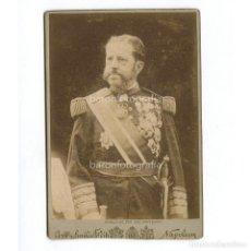 Fotografía antigua: EL GENERAL VALERIANO WEYLER (MALLORCA 1838 - MADRID 1930) MILITAR Y GOBERNADOR DE CUBA Y FILIPINAS.. Lote 199679847
