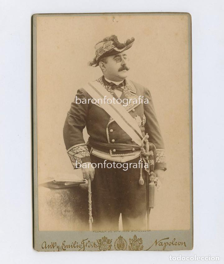 RAMÓN LARROCA Y PASCUAL (1847-1919) POLÍTICO ESPAÑOL. FOTO: NAPOLEÓN, BARCELONA. 11X16 CM. (Fotografía Antigua - Albúmina)