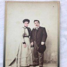 Fotografia antiga: ANTIGUA FOTOGRAFIA PERSONAJES, COLOREADA A MANO A COLOR, FOTGRAFO F. ROJAS, CADIZ 1906. Lote 199769521