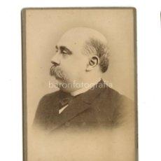 Fotografía antigua: EMILIO CASTELAR (CÁDIZ,1832-1899) POLÍTICO Y ESCRITOR ESPAÑOL, FOTO: ANTONI ESPLUGAS, BARCELONA.. Lote 199782868
