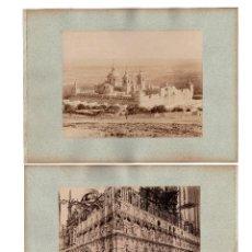 Fotografía antigua: MADRID.- EL ESCORIAL. VISTA DEL MONASTERIO Y TOLEDO.- EXTERIOR DEL CORO DE LA CATEDRAL. J. LAURENT.. Lote 202355205