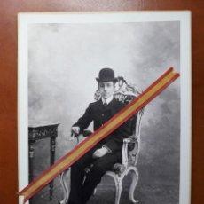 Fotografía antigua: INTERESANTE Y ESCASA FOTOGRAFIA ORIGINAL DE ALFONSO XIII FOTOGRAFO REAL (A. BOBONES LISBOA - ) N:17. Lote 202644470