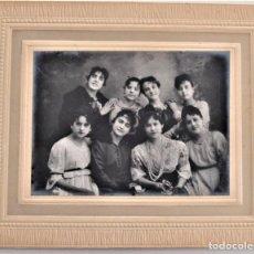 Fotografía antigua: PRECIOSA FOTOGRAFÍA GRUPO DE MUJERES - FOTÓGRAFO J. MONTORO - ALICANTE. Lote 203195275