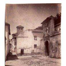 Fotografía antigua: GRANADA.- PUERTA DE ACCESO MONASTERIO DE SANTA ISABEL LA REAL DE GRANADA. ALTO ALBAICÍN. 8X11.. Lote 203638893