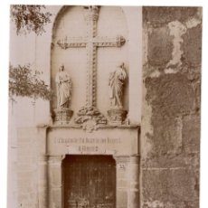 Fotografía antigua: TOLEDO.- PUERTA DEL MUSEO. FOTÓGRAFO GARZÓN. GRANADA. 20,5X16.APROX.. Lote 204265468