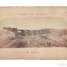 Fotografía antigua: LÍNEA DE BADAJOZ.- CAMINO FERRO-PORTUGUES. PUENTE DE COITADA. FERROCARRIL. 49X31,5.TOTAL. Lote 204275206