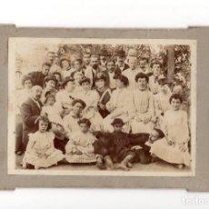 Fotografía antigua: FOTO CABINET.- FOTO FAMILIAR.. Lote 204839688