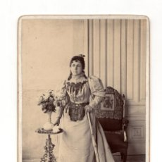 Photographie ancienne: FOTO CABINET.- FOTO MUJER.. Lote 204839855