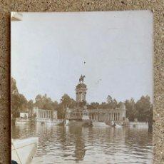Fotografía antigua: FOTOGRAFIA ANTIGUA PARQUE DEL RETIRO . MADRID .. Lote 205005891