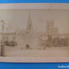 Fotografía antigua: BURGOS - FOTOGRAFIA ALBUMINA, VISTA DE LA CATEDRAL - EVARISTO ROCA Y JORNET, BARCELONA. Lote 205037478