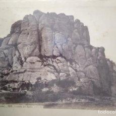 Fotografía antigua: MONTSERRAT BARCELONA 1202 LA PEÑA DEL DIABLO J. LAURENT HACIA 1880. Lote 205688805