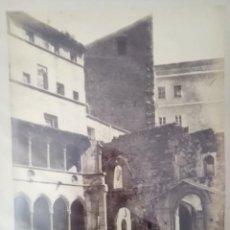 Fotografía antigua: MONTSERRAT BARCELONA 1204 RESTOS DEL ANTIGUO MONASTERIO J. LAURENTE. Lote 205689405