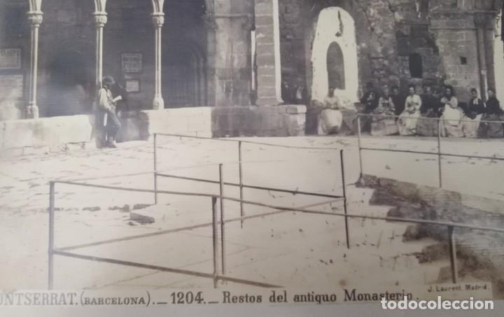 Fotografía antigua: MONTSERRAT BARCELONA 1204 RESTOS DEL ANTIGUO MONASTERIO J. LAURENTE - Foto 2 - 205689405