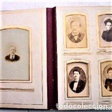 Fotografía antigua: ÁLBUM DE FOTOS 1875 CONTIENE 33 FOTOS ORIGINALES MIDE 28 X 22 CMS.. Lote 102560243