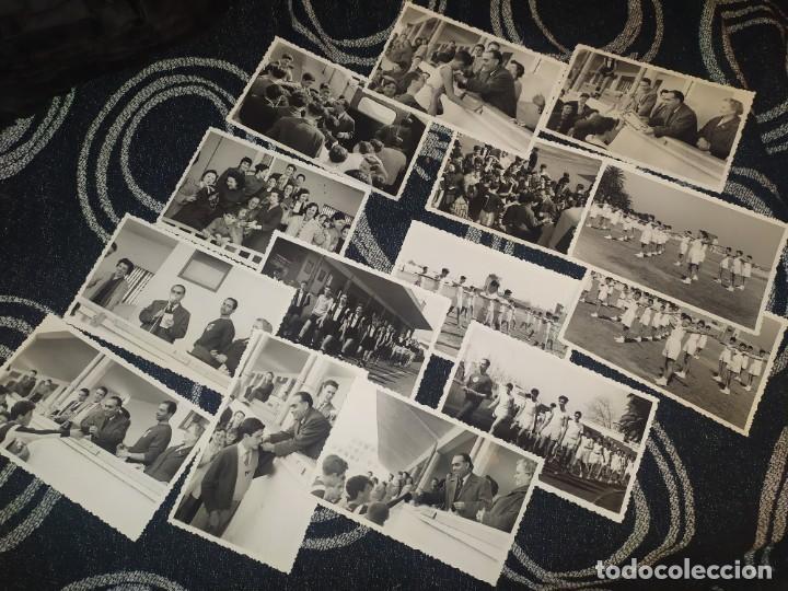LOTE FOTOGRAFÍAS BONACASA VALENCIA ANTIGUO EQUIPO FÚTBOL JUVENIL SIN MAS DATOS ÚNICO 1957 (Fotografía Antigua - Albúmina)