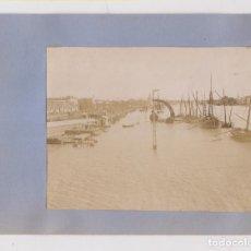 Fotografía antigua: DOS FOTOGRAFÍAS. SEVILLA. GUADALQUIVIR. HACIA 1898. 11 X 8 CM.. Lote 206586188