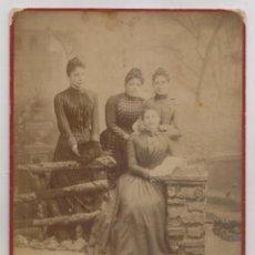 Fotografía antigua: FOTOGRAFÍA. GRUPO DE JÓVENES. BURGOS. J. POUJADE. 24,5 X 17 CM.. Lote 206589048