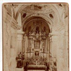 Fotografía antigua: FOTOGRAFIA ALBUMINA IGLESIA DE SAN IGNACIO DE LOYOLA EN JEREZ. AÑO 1901. NOVENA INMACULADA. Lote 206784492