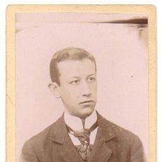 Fotografía antigua: FOTO DEL JOVEN AURELIO DIAZ. FOTOGRAFO RAFAEL ROCAFULL. CADIZ. SOBRE 1870 - ALBUMINA-2893. Lote 206823683