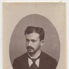 Fotografía antigua: FOTO DE MANOLO ROCAFULL. FOTOGRAFO RAFAEL ROCAFULL. CADIZ. SOBRE 1875 - ALBUMINA-2895. Lote 206824062