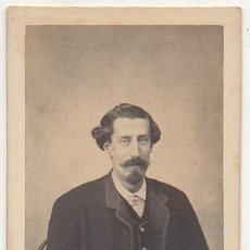 Fotografía antigua: FOTO DE CABALLERO. FOTOGRAFO RAFAEL ROCAFULL. CADIZ. AÑO 1863. - ALBUMINA-2896. Lote 206824151
