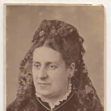 Fotografía antigua: FOTO DE ADELA. FOTOGRAFO RAFAEL ROCAFULL. CADIZ. SOBRE 1865 - ALBUMINA-2898. Lote 206824545
