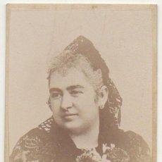 Fotografía antigua: FOTO DE SEÑORA. FOTOGRAFO RAFAEL ROCAFULL. CADIZ. AÑO 1863 - ALBUMINA-2899. Lote 206824705